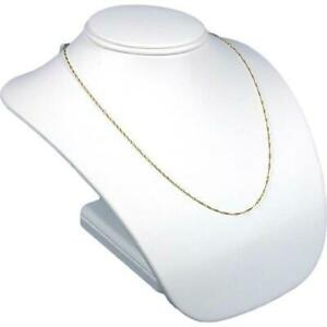 White Faux Leather Bust Necklace Jewelry Display