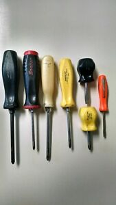 Snap On 7 Assorted Screwdrivers See Description For Details