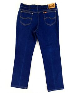 VINTAGE Lee 38x32 Actual 36x31 USA MADE Blue Jeans Dark Wash Great Condition $39.03