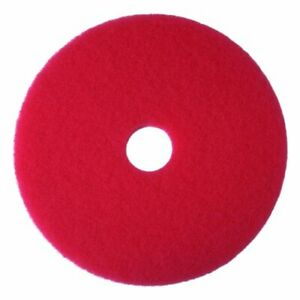 3m commercial Tape Div 08388 Buffer Floor Pad 5100 13 Red 5 Pads carton