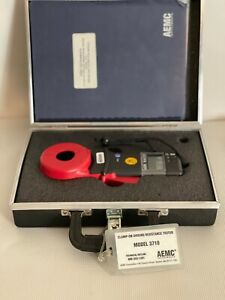 Aemc Model 3710 Clamp on Ground Resistance Tester With Case manual Software