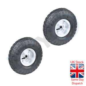 2pc 10 Tyre Replacement Wheel For Wheelbarrow Sack Truck Hand Trolley Cart