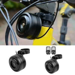 Bike Scooter Wireless Electronic Horn Remote Call Anti theft Black Alarm Bell