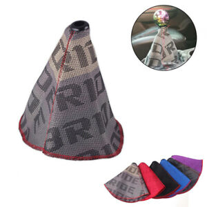 Racing Bride Hyper Fabric Shift Knob Shifter Boot Cover Mt At Stitches For Honda
