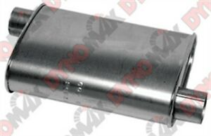 Dynomax 17696 Thrush Turbo Muffler 4 25 X 9 75 2 5 In Inlet outlet Oval