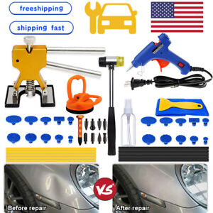 Paintless Car Dent Repair Removal Kit Hail Damage Dent Remover Puller Auto Tools