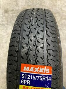 215 75 14 New Radial Trailer Tires Maxxis M 8008 6 Ply Load C St215 75r14 St