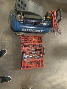 Steelcraft 13 Gallon Air Compressor And Air Tools To Match