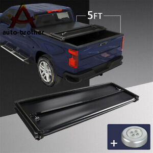 5 Ft Short Truck Bed Tonneau Cover Soft Tri fold For Ford Ranger 2014 2015 2018
