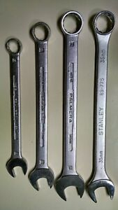4 Large Metric Combination Wrenches see Description For Details