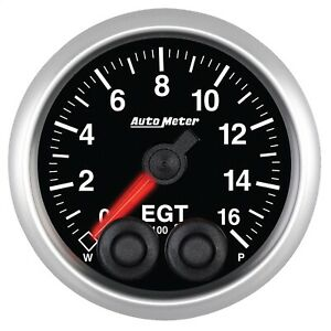 Autometer 5646 Elite Series Pyrometer Egt With Black Dial Face