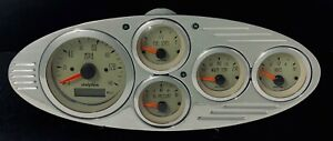 1932 Ford Car 5 Gauge Gps Dash Panel Set Tan
