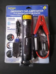 Gopower Emergency Car Jumpstarter With Flashlight And In Car Starter