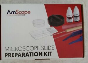 Amscope Microscope Slide Preparation Kit With Microtome Slides Stains