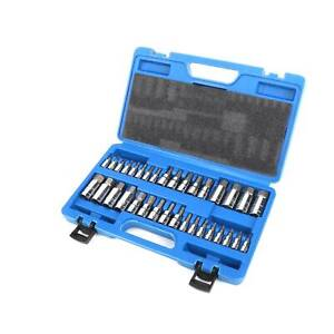 34pcs Master Allen Wrench Bit Kit Hex Key For Ratchet Socket Tool Sae Metric Set