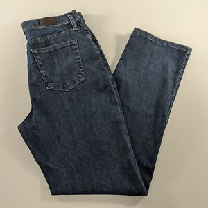 Lee Classic Fit Straight Leg At The Waist Blue Jeans Womens Size 10 Short $23.97