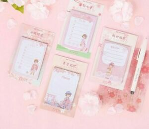Mini Planner Sticky Note Pad Japanese Girl Design Office And School Supplies New