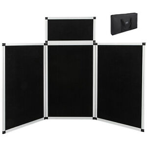 6 3 1 Black white Panel Header Trade Show Display Presentation Tabletop 6ft Loop