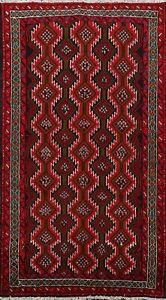 Geometric Tribal Balouch Afghan Hand Knotted Area Rug Wool Oriental Carpet 3 X5