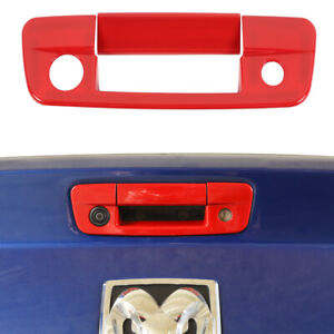 Red Tailgate Rear Door Handle Decor Cover For Dodge Ram 1500 2010 17 Accessories