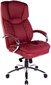 Halter Executive Bonded Leather Office Chair With High Back Swivel Motion Adju