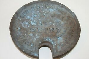 Vintage Ford Meter Box Co Water Meter Cover Type C Wabash In Has Issues