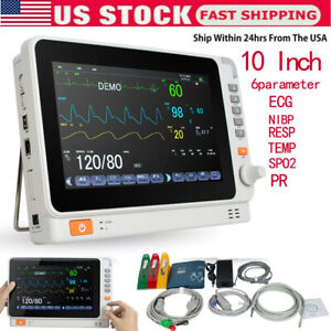 Medical Icu Vital Signs Patient Monitor 6 Parameter Ecg nibp spo2 temp resp pr