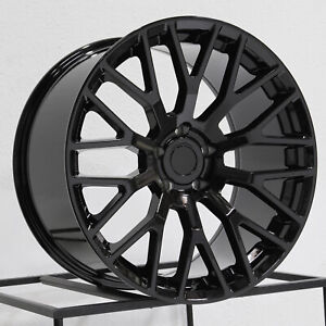 19x10 Rep Performance Pack Style Fit Mustang 5x114 3 35 Black Wheels Rims Set 4