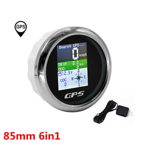 Universal Digital Auto Gps Mph km h Display Speedometer Fit For Boat Car 9 32v