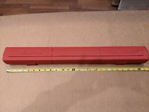 Snap on 24 Torque Wrench Blow Molded Case Only no Wrench