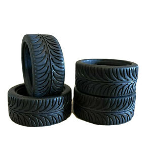 4pcs 1 10 Rc On Road Cars Soft Rubber Tires wheels Set With Foam Width 28mm