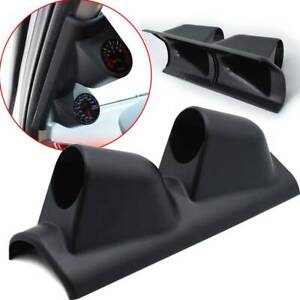 Universal Car 2 52mm Dual Hole Gauge Pod Mount Holder Bracket Pillar Meter Lhd