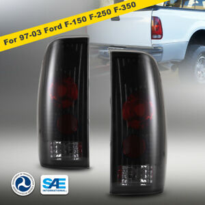 1997 2003 For Ford F 150 F 250 F 350 Pair Tail Lights Brake Lamps Smoke Lens