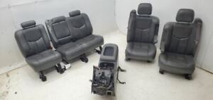 2003 2006 Chevrolet Silverado 3500 Seats Gray Leather Seat Set W Console
