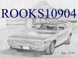 1971 Plymouth Roadrunner Muscle Car Art Print