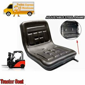 Slidable Lawn Mower Tractor Seat Waterproof Mower Seat For Forklift Excavator Us