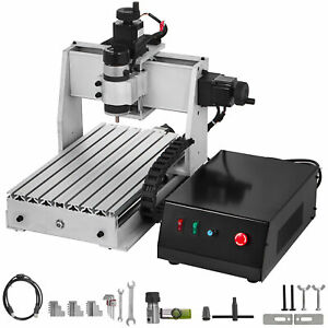 Vevor Cnc Router Kit 3020 3d Woodworking Engraving Milling 3 Axis Pvc Pcb Er11