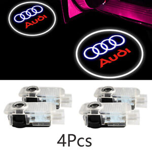 4x Led Logo Door Courtesy Light Shadow Laser Projector For Audi A8 A6 A4 Q7 Sq5