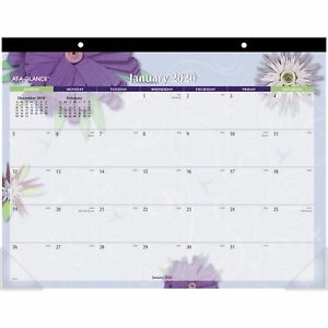 At a glance Paper Flowers Monthly Desk Pad aag 5035 aag5035