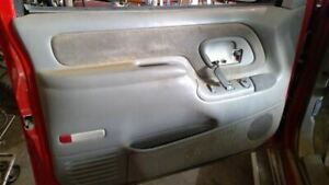 97 Chevy 1500 Driver Left Front Door Trim Panel Inside Gray Oem Silverado