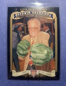 MARVEL STAN LEE WITH HULK HANDS GOODWIN CHAMPIONS 2012 UPPER DECK TRADING CARD $13.00