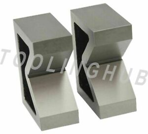 Combo Of 2 Sets Of Cast Iron Vee Block Pair 2 3 Inch V Block Without Clamp