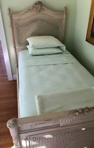 2 Twin High Style Painted French Beds