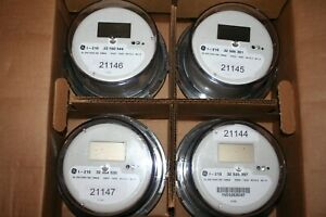 Case Of 4 General Electric I 210 Cl 200 240v 3w Lcd Watthour Meter new
