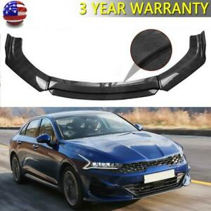 Carbon Fiber Look Front Bumper Lip Spoiler Splitter For Kia Optima K5 2011 2019