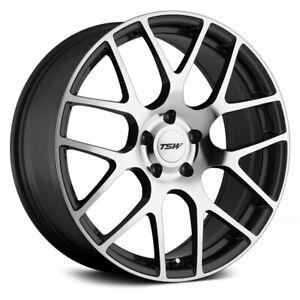 Tsw Nurburgring Wheels 19x8 45 5x112 72 1 Gunmetal Rims Set Of 4