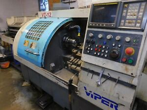 1999 Viper Vt 12 Cnc Lathe With Bar Feeder And Chip Conveyor