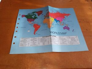 Vintage Classic Size Organizer Fits Franklin Covey World Map Refill Insert
