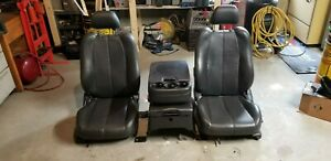 Leather Bucket Truck Seats Including Jump Seat Possibly Gm
