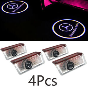 4x Logo Led Door Courtesy Light Ghost Shadow Laser Projector For Mercedes benz